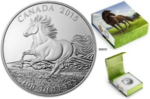 2015 Silver $100 The Canadian Horse Coin
