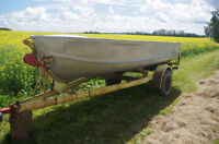 15 ft aluminum Princecraft boat with Mercury outboard motor