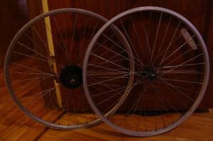 "Roues 26"" Aluminium / Alloy Wheelset 6-spd Shimano"