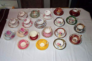 20 Vintage Bone China Teacups