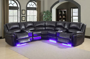 3 pcs Power Recliner Sectionals sofa Set Air Leather $2399.
