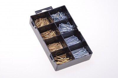 490 Nägel Set Metall Nagel Wandnägel Drahtstifte Heimwerker verschiedene Größen