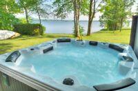 550 $ chalet a louer  bord de l'eau au  beau grand lac aylmer
