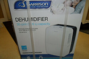 Dehumidifier – Garrison (New in Box) 35 Pt/16.6 lit – 1500 sq ft