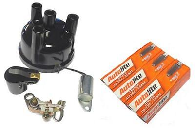 Tune Up Kit Ford 2000 3000 4000 3 Cyl Points Condenser Rotor Distributor Cap