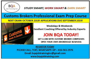 JOIN CUSTOMS PROFESSIONAL EXAM PREPARATION COURSE ASAP