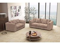 SUPREME QUALITY Dual-Padded Thick Fabric BRAND NEW DYLAN JUMBO CORD Sofa With Same Day Delivery