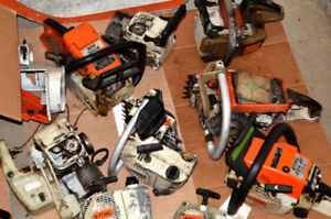 We buy broken chainsaws, blowers, generators and other gas tools