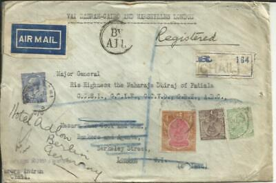 India SG#215(2 Rupee)#203,#202-CHAIL 20/JU/28-Reg`d(label)AIR MAIL to for sale  Shipping to India