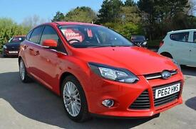 2012 62 FORD FOCUS 1.6 TDCi 115 Zetec 5dr in Red