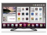 "SOLD PENDING COLLECTION LG 55"" 3D WIFI FULLY SMART LCD TV,FREE VIEW,**HAS A SLIGHT FAULT**"