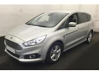 2015 SILVER FORD S-MAX 1.5 ECOBOOST 160 TITANIUM PETROL CAR FINANCE FR £71 PW