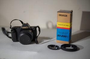 Canon T80 AF/MF Film Camera w/2 lenses