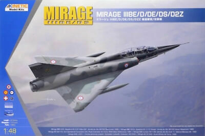 Kinetic Models 1:48 Mirage IIIBE/D/DE/DS/D2Z Plastic Model Kit 48054 KIN48054 for sale  Saint Charles
