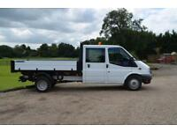 2.2 TDCI T350 DOUBLE CAB 6 SEAT CREW CAB TIPPER DRW LONG WHEEL BASE 125 BHP
