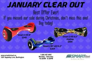 January Clear Out on Smart Balance Hoverboards!