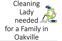 Family needs a cleaning lady