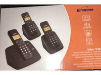 Binatone Solas 1520 set of 3 Digital Cordless Phone