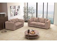 【COLORS OPTION AVAILABLE】BYRON SOFA 3 + 2 - - MATCHING FOOT STOOL AND CORNER SUITE AVAILABLE