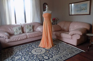 REDUCED Peach Strapless Evening or Bridesmaid gown