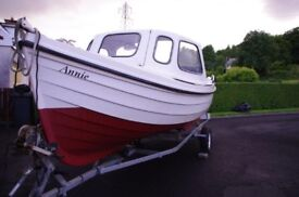 Orkney Longliner 16 Foot with Cuddy, 15 HP Honda engine & extras