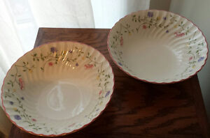 Johnson Bros Round Vegetable Bowls-Summer Chintz-Set of 2