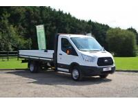 2016 66 FORD TRANSIT 2.2 TDCI 350 EXTENDED FRAME DROPSIDE DRW 125 BHP DIESEL