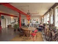Huge room in converted warehouse, Hackney