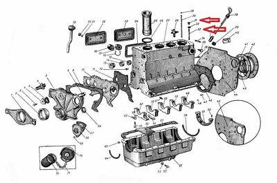 MTS Belarus Zylinderkopf ( Stehbolzen + Mutter ) Zylinderkopfschraube Schraube
