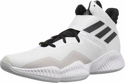 adidas Men's Explosive Bounce 2018 Basketball Shoe, White/Black, 9.5 D(M) US