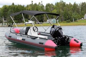 Bimini Top For Inflatable Boat  --  by SeaBright Marine