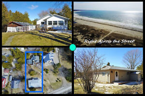 SAUBLE BEACH ~ 2 COTTAGES, ON 1 LOT! GREAT VALUE & BEACH VIEWS!