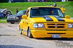 1996 Bagged and bodied Ford Ranger.