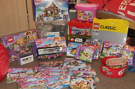 Huge LEGO Bundle 34 Sets FRIENDS CITY STAR WARS ELVES Some New!!