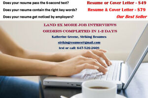 Resume writing $49