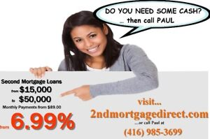 NO INCOME CHECK -PRIVATE 2ND SECOND MORTGAGES