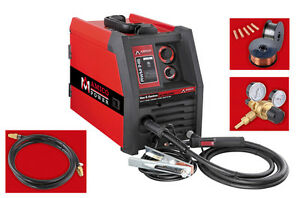 135 AMP Welder MIG Flux Core Wire Welding Soldering Machine W/Accessories