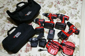 lot perceuse - viseuse - drill - black and decker