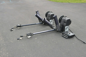 Two walker electric downriggers
