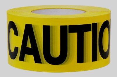 C.h. Hanson 19000 Yellow Caution Barricade Safety Tape 3w X 1000l Construction