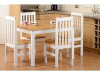 Brand new*** White and pine Ludlow dining sets -- ONLY £145 -- also available with 6 chairs!!!
