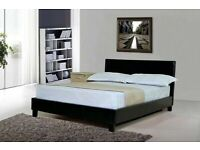 🌈Furniture On Sale--🌈 NEW DOUBLE AND KING SIZE LEATHER BED FRAME w OPT MATTRESS-CALL NOW