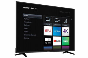 "Sharp 58"" Inch Smart TV Roku 4K Ultra HD"