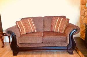 Amazing Love seat and sofa + 2 end tables