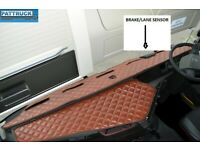 TRUCK ECO LEATHER DASH MAT WITH SPACE FOR SENSOR  FIT  VOLVO  FH 4 2013+ BLUE