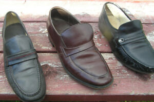 Men's All Leather  Leather Loafers 3 Pair for $20.00