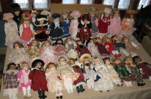 Poupées De Collection en Porcelaine Gros Lot de 37 Différentes