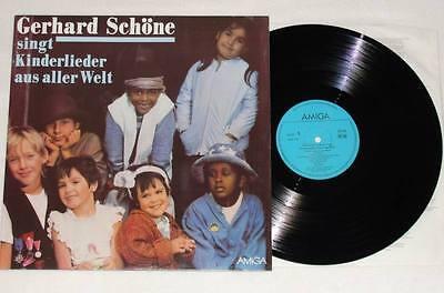 GERHARD SCHÖNE Singt Kinderlieder Aus Aller Welt LP AMIGA 1986 Kinder * NEU