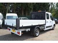 VAUXHALL MOVANO 2.3 CDTI R3500 L3 H1 CREW CAB TIPPER DRW 125 BHP DIESEL