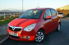 2009 59 VAUXHALL AGILA 1.2 16V Design 5dr in Blaze Red